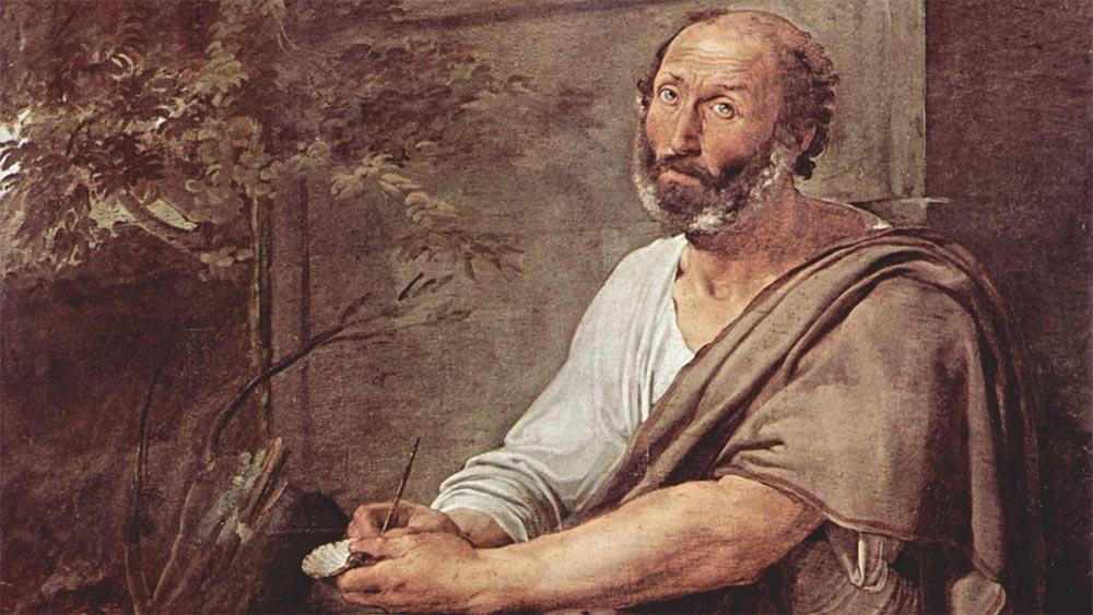 Аристотел класифицира природата. Картина от Франческо Хайес