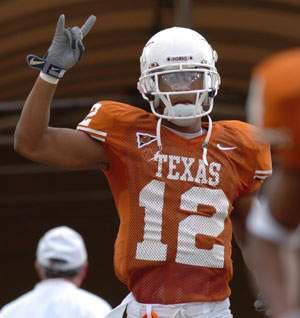 Американски футболист и знака на Тексас