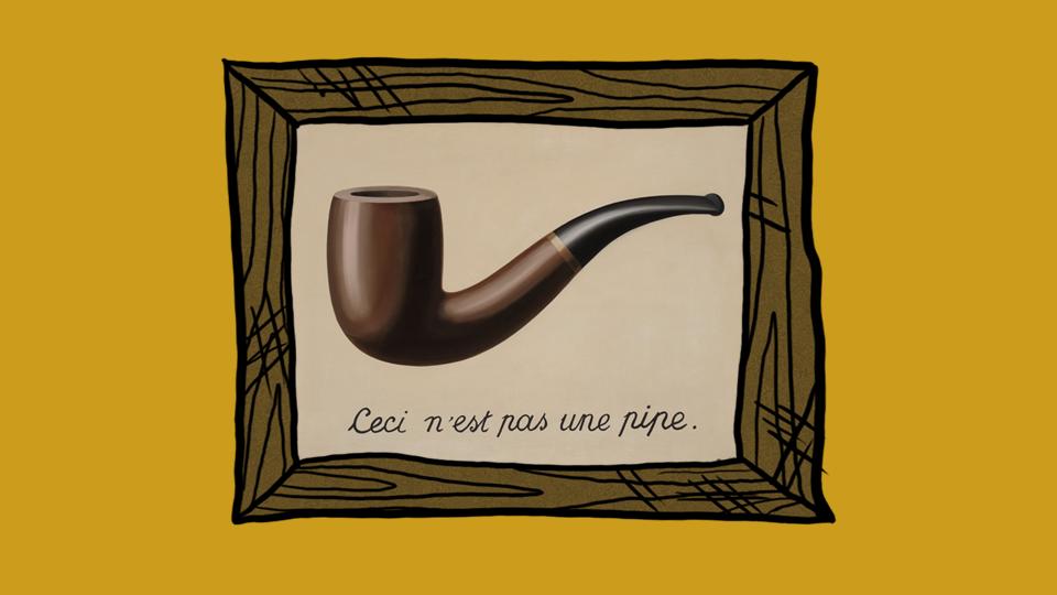 """""""Предателството на образите"""" от Рене Магрит"""